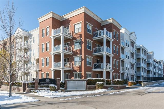 One of the best units in Gateway of Garrison Green. At over 1000 square feet this ground floor corner unit has it all including 2 underground titled parking stalls! This unit boasts 2 large patios, your own private entrance from the street as well as access from inside the building. The main level is bright and open with windows on 2 sides of the suite and fresh paint. The kitchen has granite counter tops, stainless steel appliances and plenty of counter space. Both the master and second bedroom have brand new carpet, paint, walk-through closets and ensuite bathrooms. The complex has numerous amenities including a gym, 2 guest suites and a party room. Nestled on a quiet street in beautiful Garrison Green you're a short drive to Marda Loop, downtown Calgary, shopping and Mount Royal University. Call today for your own private viewing!