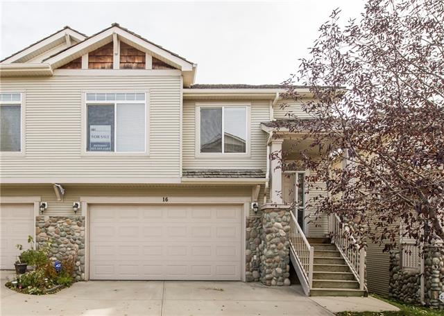 Open house Sunday Jan 19 1:00-2:30pm !!! Are you looking for a low maintenance home, close to city transit and a wide array of shopping? You get it all with this end unit bungalow townhome, which features a walkout basement. The main floor incl. a large living room surrounded by windows and sides onto a prominent kitchen/eating area with maple cabinets and pantry. Access to a south facing balcony allows you to overlook the foothills. The 2 main floor bedrooms incl. a large master with walk thru closets into a full bath. The W/O basement has a flex room(bedroom/den or family room)beside a three pcs bath. along with lots of storage and sliding doors to a secluded patio. The large att. garage is insulated/drywalled and incl. shelving along the two side walls. Shopping is avail. at the strip mall across the st. and it is a short dist. to Westhills Shopping Center and Aspen Landing. A bus stop is located beside the complex and the c-train is a short distance away.