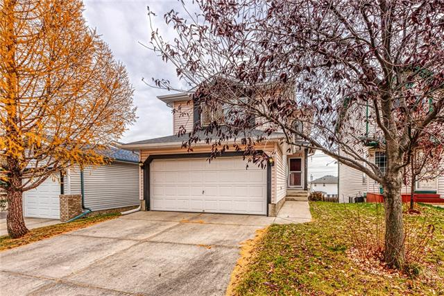 Wonderful 1408 Sq.Ft. 2 Storey Family Home with finished walkout basement! This home features laminate floors that flow throughout the main, spacious living room w/ tons of natural light opens to the Kitchen & Breakfast Nook, Kitchen w/ Raised Eating Bar & Tile Backsplash, Breakfast Nook w/ access to the Deck, Main Floor Laundry & 2 pc Bath. Upstairs you will find the large Bonus Room w/ Gas Fireplace (easy to convert as bedroom if needed), Master Bedroom w/ Walk-In Closet & full Bath ensuite, 2nd Bedroom w/ Walk-Through Closet & additional 4 pc Bath.  Developed walkout basement with a Huge Rec Room, Summer Kitchen w/ eating area, and one full bath.  This great Starter home comes with Double attached garage plus a Double parking pad in the back for your extra parking needs. Only Minutes away from the Airport, Stoney Trail & Deerfoot Trail, Steps away from Parks & Pathways. Don?t Miss!