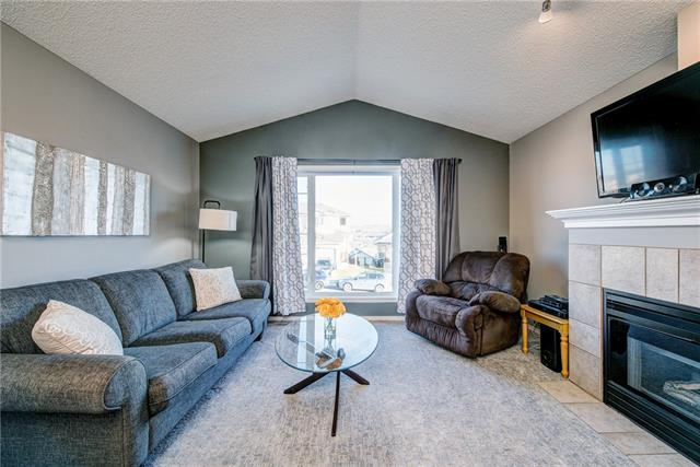 Over 1700 sq ft of updated living space with a Front Double Garage & No Condo Fees! The vaulted family room is over the garage offering huge windows & views of the Bow River Valley. The kitchen and nook are open to the family room. Wow, there is no lack of space here. Discreetly placed off the side hall you find the master and 2nd bedroom separated by the main 4 pc bath. In the master there is a full ensuite bath & large closet making getting ready in the morning a breeze. The fully finished lower level is always where the best movie nights happen. A massive Rec Room & bar, 2 teenager sized bedrooms & another full bathroom complete this space. The yard is immaculately landscaped with a large deck & full fenced yard. Bow Ridge is a great family neighborhood with parks & paths. From here, it's easy to fast track around Cochrane on the 1A or Highway 22! If you're looking for something refreshed to put your mind at ease & if being close to the mountains is important then this home might be your home.