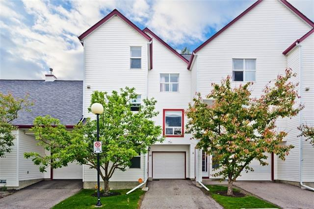 """For more information about this listing, please click the ?View Listing on REALTOR Website? link, or the ?Brochure? button below. If you are on the REALTOR app, please click the """"Multimedia"""" button. Beautiful and well located townhouse, backing onto green space, in the heart of Hidden Valley! Spacious main floor with tons of natural light displays a large living room with a cozy gas fireplace, large dining area, maple kitchen cabinets and powder room. New laminate flooring throughout the main living area, new tile in the kitchen and powder room. New dishwasher, new LED lights throughout the house for energy efficiency. Private west facing deck backs onto a large green space with lots of trees. You can enjoy barbequing while watching your kids playing in the backyard The upper level includes 2 good sized bedrooms with a 4 pcs bath, master bedroom with 4 piece ensuite, and the convenience of upper floor laundry room, new washer and dryer."""