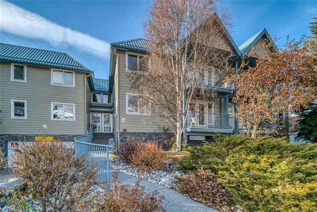 Ideally located steps to Canmore?s eclectic Main Street, this two bedroom apartment is a rare find in the mountain town. The small, professionally managed, residential building, is sought after for its location and community. With underground parking and storage, leave your car at home and access all your amenities by bike or foot. From the private front balcony you are greeted with panoramic mountain views. A fantastic home if you are considering downsizing or getting into the Canmore real estate market. The open concept living space has a functional kitchen space and a gas fireplace. The in suite laundry and storage room is a fantastic feature. Additional guest parking is available at the rear of the building with bicycle parking in the parkade. The central location with access to grocery, restaurants and shops are why people choose to call a small town home.