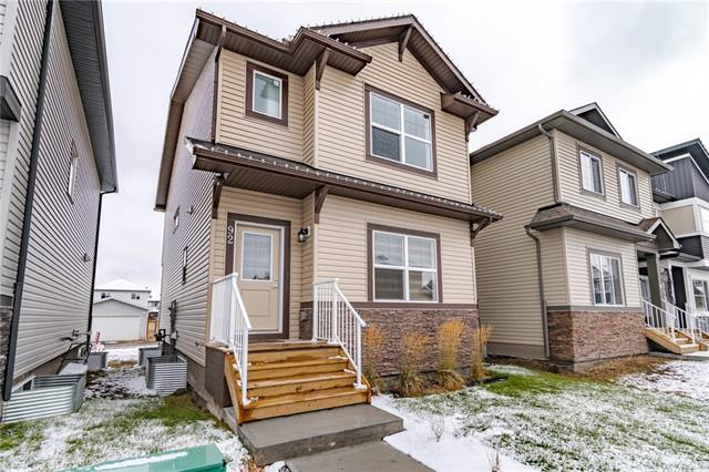 Welcome to this Former Show Home, Over 1600 square feet of living space in this 2 Storey Home.  Laminate Flooring on the main floor, Front & Back Entrance have durable 12x24 tile.  The cupboards go up to the ceiling in the kitchen and there is loads of counter space for meal prep, crafts or entertaining!  Kitchen also comes with Quartz countertops and upgraded backsplash with Stainless Steel Appliances & a Pantry.  Heading upstairs you will find the upgraded maple railing with metal spindles, 2 Bedrooms, Laundry and Large Master Suite.   Ensuite has double sinks and large walkin shower. Quartz Countertops throughout this home.  Master also has large walkin closet complete with organizing racks.  There is a parking pad off of the back lane for your convenience and future garage development.  This home also comes with a landscaped front yard and all the Window Coverings are Included.  Call today for your showing appointment - you won't be disappointed.