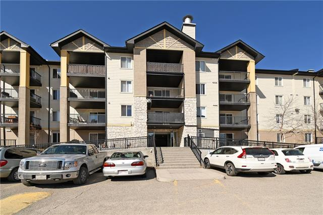 BEST VALUE IN AIRDRIE!!Fantastic opportunity for a two bedroom one bathroom condo with and UNDERGROUND TITLED parking stall. Great value and an awesome location close to all amenities including restaurants, pubs and grocery stores! This open concept offers a HUGE living area with large windows and patio doors leading to the over sized deck. Kitchen is highlighted by loads of cabinet and counter space. Two bedrooms are a good size and share a 4 pce main bathroom. Did we mention the in suite laundry! Condo fee includes: Heat, water, sewer, electricity, snow removal and exterior building insurance. This is a great opportunity to get into the real estate market! Property is being marketed below assessment value! Call today for showing appointments!