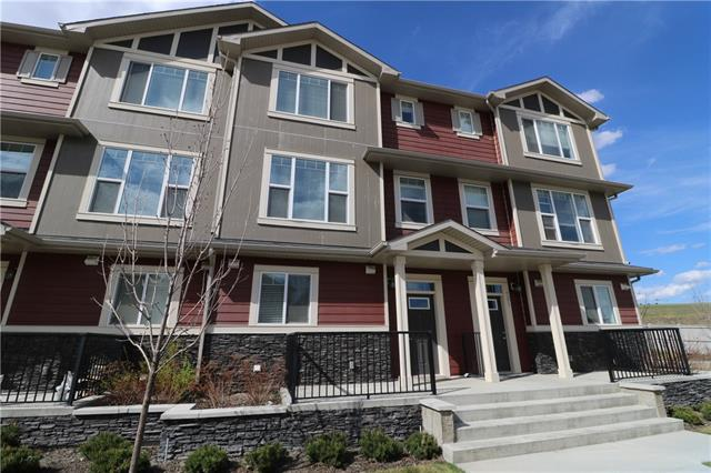 WOW! Welcome home to Panatella Square. This 3-storey townhouse is located in an amazing community of Panorama Hills. The spacious main foyer welcomes you from the double installed attached garage (21ft x 19ft) or main entrance which leads to the laundry & utility room; with the stairs lead you up to the main living area. Main offers 9? ceiling throughout living room, den, half bathroom, dining room which leads onto a north facing 8ft x 6ft balcony with gas bbq hookup, and a gourmet kitchen with extended cabinets, SS appliances, glass tile backsplash, quartz countertops and a stunning 10ft x 3.5ft chef island. Upper offers 2 bedrooms, a full bathroom, a flex area & master bedroom with walk-in closet & 3 piece ensuite. Mins from parks, schools, Park & Ride, Superstore, VIVO Recreation Centre, Stoney Trail & Country Hills Blvd. Why pay rent when you can build your equity. Won?t last. CALL NOW!