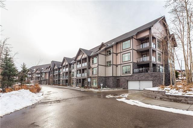 Lovely corner unit in the Valmont at Aspen Stone.  This highly desirable unit is light-filled with windows on three sides and boasts two large balconies, one exceptionally sized and raised above street level, and the other is at street level with your own private access to the street from your balcony to walk fido.  The apartment includes rich dark cabinetry throughout, a large kitchen great for entertaining with an oversized island complete with a granite waterfall countertop,  breakfast nook and open to the living room.  Off of the living room, you have a flex room currently being used for dining that leads out to a large 2nd-floor balcony.   Both bedrooms have there own ensuite bathrooms, with the master ensuite including a massive walk-in closet.  Two underground heated parking stalls and one of the largest storage units in the building come with the apartment.  Call for your private viewing.