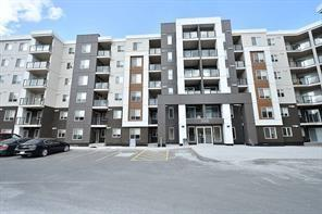 Brand New Apartment ready to move in Quite community of Skyview Ranch. Amenity rich Building. Free GYM Access and Party room. Free internet, TV, Phone servies for 1 year. Planned Day Care on site. Amazing layout, Main level Unit, Very Low Condo Fee only in $200s, includes various services. Both rooms have en-suite full washrooms. Main level, easy access to and from your unit. 2 bedrooms and 2 full washrooms. Cozy Living /Dinning room combination. Beautiful Kitchen with Granite counters, and Pantry storage with Laundry machines. Living room opens into patio and small back green space. Wow.. it comes with lot of upgrades, such as Granite counters in kitchen and both washrooms, and with 9 feet high ceiling. Heated Underground parking. Great opportunity for 1st time buyers or investors. Right Across the road there will be FUTURE LRT/TRAIN Station.. Note: Staged pictures are from show suite with similar floor plan and sqft. 4 more Main Level units of different floor plans, one with Den available for sale.