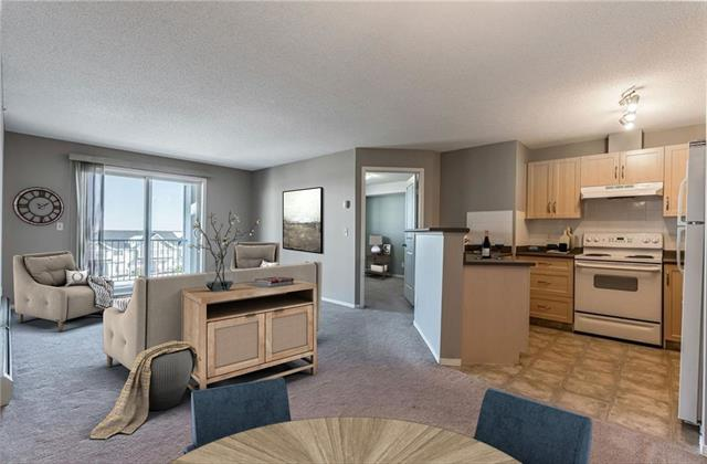 INCREDIBLE VALUE! ONE OF A KIND UNIT WITH 2 UNDERGROUND HEATED PARKING STALLS! Extra storage locker outside of the unit. Condo fees include all utilities. This 2 bed 2 bath unit is very well kept with fresh paint. This condo is perfect for a first time home buyer/downsing or investor. This well kept unit has an open floor plan that maximizes the space. The open kitchen allows for entertaining. The master bedroom has a walk through closet that leads you into the price en suite. The second bedroom has easy access to the second bathroom. The balcony is directly off of the main living space and brings in plenty of natural light.