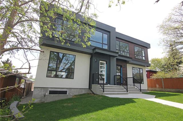 Rare opportunity to make your home in the coveted mature community of Cambrian Heights in this brand new semi-detached home, on this 29ft wide lot with a SOUTH backyard and just a stone's throw to Confederation Park & minutes to the Winter Club. This contemporary home features 9 & 10ft ceilings, metal roof, upgraded engineered hardwood floors & designer kitchen to please the gourmet in the family. Expansive open concept design with floor-to-ceiling windows, with South-facing living room with fireplace & built-in bookcases, formal dining room & stunning chef's kitchen with oversized island & full-height cabinetry with soft-close drawers & doors, quartz counters & stainless steel appliances including gas stove with convection oven, Three bedrooms up highlighted by the master retreat with walk-in closet complete with built-in organizers, views of the downtown skyline & luxurious ensuite with double vanities, sleek glass shower & frosted doors.