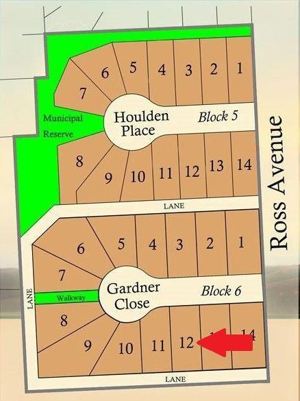 Muir Ranch presents 11 Gardner Close. Build your dream home in this well laid out development located in the Hamlet of Cayley which is located just a short distance to High River, Okotoks and Calgary. Fully serviced, low taxes, and quality builder available and ready to work with you. 1. Down payment of 10% must accompany offer to Purchase--to be held in Trust with the Developer's lawyer 2. A Compliance/Cost of Repair Deposit in the amount of $5000 is required to be deposited with the Developer's lawyer at the time of final lot payment. this deposit shall be refunded without interest upon satisfactory completion of home construction minus any costs to repair any damage to services in place. 3. Architectural Controls apply to all building sites. All drawings must submitted to the Developer's architectural consultant for review and approval prior to commencement of construction. 4. Construction must be completed within 18 months of lot purchase.
