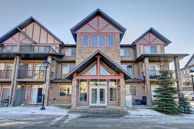Here is a great opportunity to own an affordable 2 Level Condo in Aspen Estates.   This complex is situated walking distance to all the amenities.   This very bright end unit has tons of windows with a gorgeous view to the east allowing for morning coffee on the deck during the summer months.   Its a really nice floor plan having the spacious kitchen and eating area overlooking the main living area but also having an upstairs.   There is a lot of room for large furniture pieces and enough space for bar stools in the kitchen as well as a table and chairs for entertaining guests.    The upper level has two large bedrooms with two full bathrooms.   It feels like you are living in a townhome having the separation from the main level.   This condo includes under ground heated parking as a bonus.   This is a perfect opportunity to own in a really good building for a reasonable price.  Book your viewing today you will not be disappointed.