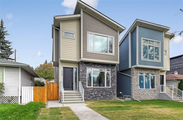 This detached infill by Murari Homes Inc. offers a masterful blend of style & custom detailing w/ over 2,900 sf of living space over 3 floors. Upgrades include wide- plank eng. hwd floors, painted ceilings on all levels & custom MDF millwork. Open-concept main floor has large living spaces including a semi-private front flex space (office/dining), central kitchen w/ S/S appliances & large island, dining rm & living rm w/ gas fireplace feature wall, tile surround & built-ins on both sides. Large windows on all sides allow sunlight to brighten the space & tiled SIDE mud rm allows for extra space in the living rm & provides access to landscaped/fenced yard & finished double garage w/ attic & 100amp panel. 2nd level boasts 3 large beds, 2 full baths & laundry. Finished bsmt w/ rec room, wet bar, 4th bed & 4th bath. R/I for sound & central vac. Great access to DT, schools, SAIT & U of C w/ amenities nearby including the Calgary Winter Club & golf courses! See website for full details