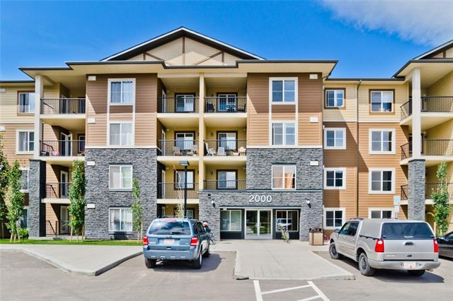 One year old condo in one of southeast Calgary's newest communities Legacy. Two bedroom unit comes with stacked insuite laundry, one titled parking stall. Bright with large windows & a modern decor. The kitchen offers stainless steel appliances, dark shaker style cabinets, & tiled backsplash. Living room with patio doors open to balcony facing south floods space with natural sunlight. Two generous sized bedrooms with large closet space, master with 4 piece ensuite & walk-in closet, one other 4 piece bath. Close proximity to parks, shops & restaurants. Easy access to Deerfoot & Stoney Trail offers a quick getaway for an out of town weekend adventure or commute downtown. Call now to view this great place!
