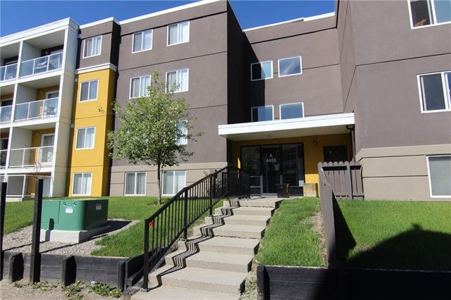 Location, location, location! Close to the inner city, public transportation, mins to Deerfoot trail, walking paths, parks, schools. This two-bedroom condo has a ton of value. The kitchen has been renovated in the last few years with all new cabinets, granite countertops, newer stainless steel appliances. Open concept from the dining room to the living room area. Engineered flooring throughout the entire level except for bedrooms and bathroom. Ceramic tile in bathroom and newer carpet in the bedrooms. The living room has patio doors to a spacious patio that is west facing. The living room has lots of space for entertaining. In-suite laundry equipped with storage is another perk for this unit. One assigned outdoor parking and ample visitor parking. Building is well maintained and very clean inside. Heat, water and sewer included in condo fees. This home has been very well taken care of and is a must to see!