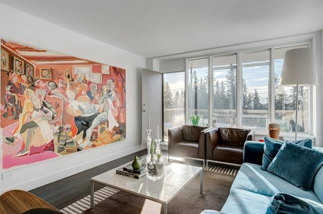 Welcome to Rideau Towers where this 2 bed, 1 bath condo offers a European minimalist design style in the inner city. This bright condo in Devonshire House is a rare south-facing end-unit that has been recently fully renovated while maintaining the large room proportions, original window style and radiators, and iconic swirled plaster ceiling that make living in this mid-century modern condo unique. The renovation was thoughtfully planned to enhance the entertaining living space. and includes leveled floors featuring luxury vinyl tile, formal living room, soundproofed neighbour wall, and an extra wide custom kitchen with marble countertops, Waterstone faucet, soft-close cabinets, pull-out pantry and professional grade appliances. Luxury finishes and amenities extend throughout with CB2 light fixtures, custom hardware, Restoration Hardware marble sink and bathroom fixtures, and in-suite washer and dryer. With more wonderful features please see a list of renovations in the supplements.