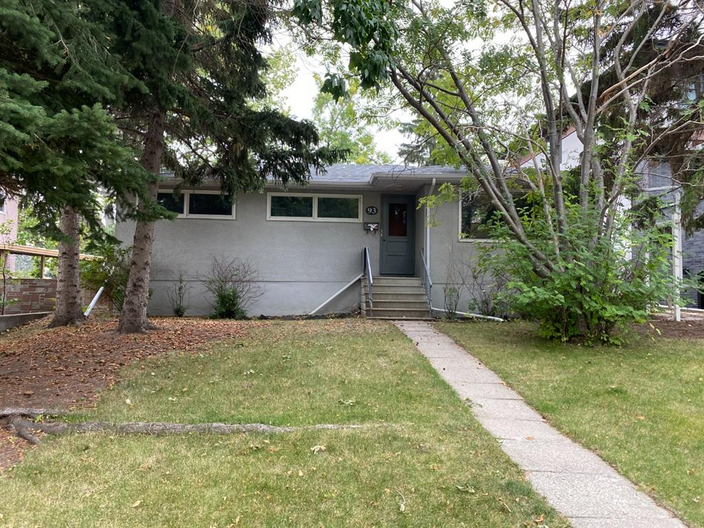 Welcome to a well-developed tree lined quiet street in the community of Rosemont. This huge (55'x128') lot features beautiful trees, spacious south facing backyard and only two houses away from Confederation Park. This house boasts roof-top views of downtown which makes it IDEAL for a second story addition or redevelopment! This 3 bedroom bungalow includes a large kitchen capturing plenty of natural light w/ nearby living room is highlighted by decadent stone wood-burning fireplace. Recent updates include a newer roof, a high-efficiency furnace, new hot water tank, and electronic air cleaner and attic insulation. An excellent location with quick easy commutes to downtown, U of C, SAIT, playgrounds, highly rated schools and easy access to the Calgary Winter Club as well. Don't miss this chance to move into one of the most coveted communities in Calgary.  2 Options, buy and live OR Keep the current tenant and build when your ready with the existing approved 4000 sq ft design. A must see?