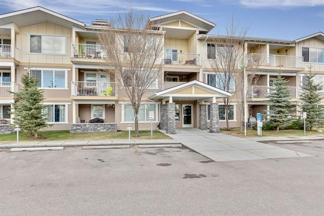 Check out the amazing value in this property. Purchased for over $190,000 in 2009 this unit can be yours for almost $30,000 less. Those who watch the market know it is an incredible time to invest & take advantage of these kind of price reductions. This ground floor property is located in a pet friendly building (with approval) & features a large private patio. The parking stall is located right out the patio door & there is storage in the unit & an extra exterior storage unit. This makes it easy to downsize. Located close to all amenities & a quick drive to the Calgary Airport makes it perfect for snowbirds or those working up North. Entering you will be impressed with how spacious this home is. Notice the fresh paint, clever home office & open concept layout. The laundry is tucked away in its own room & the master bedroom has a walk-through closet with ensuite. The kitchen has a large pantry & breakfast bar. This is a great way to get into the market or downsize.