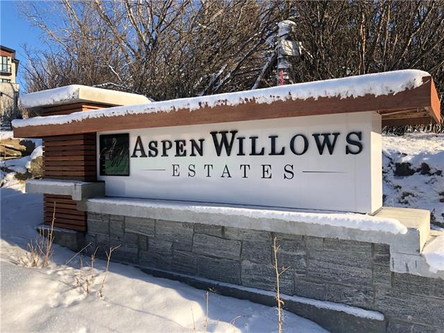 A rare opportunity high in the Springbank Hills.  Aspen Willows Estates is an exclusive community of 10 estate lots, exhibiting exquisite architecture. Lot 300 measuring 678 sq m is a walkout lot with SPECTACULAR, unobstructed mountain views! Lots like this have become rare on the Westside. Take a drive by today to view and imagine the opportunity to build your dream on Elkton Close at Aspen Willows Estates.