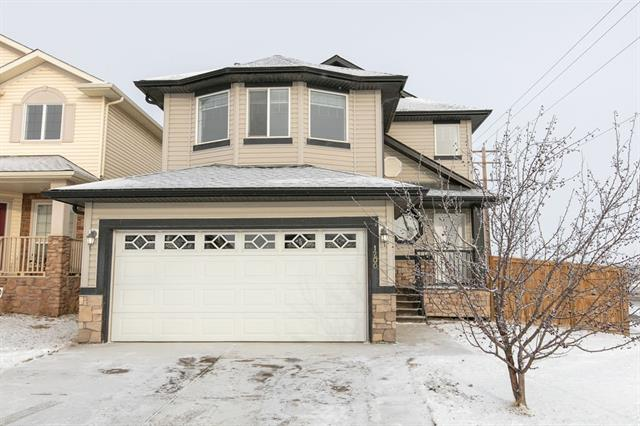 Centrally located in the heart of Airdrie, this immaculately maintained 2 story home in the Canals is move-in ready!  Upon stepping inside you are greeted with a bright open loft style entrance. This leads to an open main floor concept home with a powder room and main floor laundry. Enjoy the convenience of walk through pantry from the mud room area. Upstairs you will find a huge bonus room and 2 additional bedrooms with a 4 piece bathroom. The massive master bedroom easily fits a king size bed with room for extra furniture. Retreat to your ensuite bathroom to soak in your oversized tub and enjoy views from the huge window. The basement is ready for your creative design. Feel safe in your new home with the security system already installed. The contract can be monitored for a very low monthly fee. Need furniture, no problem it is all negotiable. Enjoy the privacy of the park/field setting right behind your home. Ideal for a family and close to so many amenities, this home has it all!