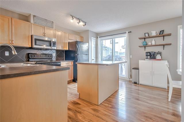Welcome to this beautiful, well cared for townhouse in the heart of New Brighton! As you walk through the front door, you?ll be greeted by hardwood floors, neutral & modern colours, and a spacious floor plan. The main floor is open concept and features a large living area, dining nook, 2 piece bathroom and kitchen with a balcony (large enough for a BBQ)! Up the stairs, you?ll find a den ? ideal for an office space/kids play area, as well as two master bedrooms both equipped with en-suite bathrooms and walk-in closets. The basement has lots of space for storage and is where you?ll find your washer/dryer. Other great features of this townhome include the double attached garage and the huge east-facing patio (AKA the perfect spot for Sunday morning coffee). The location is fabulous - close to the New Brighton recreation centre, schools, and the countless amenities of 130th Ave and surrounding communities (ie. restaurants, shopping, dog park, hospital, etc). This home won?t last long! Call today to view.