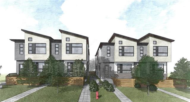 Luxury meets convenience ? presenting 8 beautifully appointed townhomes less than 5min walk from LRT on quiet inner-city street. Experienced builder Chandan Homes has crafted these bright 3-bed homes w/ upgrades such as 10ft ?level 5 painted? ceilings, slimline fireplaces, wide-plank engineered hardwood, premium wood cabinetry w/ gold hardware, quartz counters & premium stainless-steel appliances included. Inspired design selections translate to master bdrm & 5-piece ensuite w/ heated floors, dual vanity w/ make-up desk, jetted tub & shower with rainfall showerhead. ?Double Master? second bdrm w/ ensuite & laundry area complete upper level. Fully finished basement with rec room, storage and third bdrm w/ 4-piece bathroom. Private pet-friendly yards & single garage all in a walk-friendly community. Ready for immediate possession! New Home Warranty & GST included.