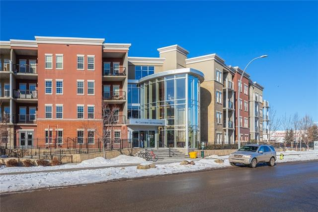 Beautiful top floor air-conditioned south facing, 2 bedrooms, 2 bathrooms, plus a den. Very bright and open plan with 9-foot ceiling, newer vinyl plank flooring throughout. Gourmet kitchen with centre island, breakfast eating bar with granite countertops and stainless-steel appliances. Open to large great room and eating area. French door leading out to south facing deck with hookup for bbq and with views of court yard. Huge master bedroom with walk thru closet and 3-piece ensuite. Spacious den off master bedroom, good sized second bedroom. 4-piece main bathroom, in suite laundry with newer washer and dryer. Underground heated parking stall with storage in front of parking stall. Pride of ownership shown throughout. Gateway South Centre has amenities room, guest suites, courtyard gardens and spectacular fitness and weight room. Geo thermal and solar heating complex. Close to LRT, shopping amenities, South Centre & Avenida.  Great for first time buyer or professional couple. Exception Value!