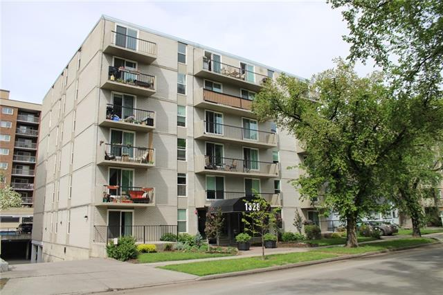 Incredible VALUE for this FANTASTIC 2 bedroom condo in the heart of Calgary?s Beltline. This BRIGHT and spacious condo has NEW HARWOODWOOD floors and has been recently painted in a warm and neutral colour scheme. The Large OPEN kitchen overlooks the dinning area and living room. There is also a BALCONY to enjoy in those warm spring and summer days! There?s INSUITE laundry and storage as well an additional storage locker and bike storage. This unit comes with a secure PARKING STALL. Excellent location! Steps to trendy 17th Ave. shops, restaurants and walking distance to the core! Don?t miss out on this incredible condo!
