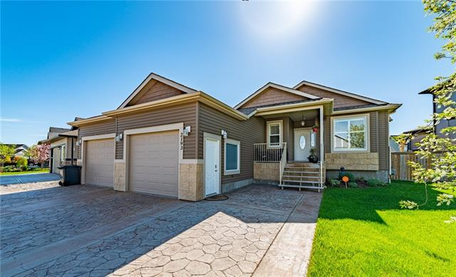 Yes, the garage is HUGE and yes, there is almost 3300 sq ft of developed living space. Yes, it's on one of the most sought after, family-friendly streets in High River and YES - it is ready for new owners IMMEDIATELY! Need more to convince you that THIS is the perfect house for you? That easy! 3 bedrooms up AND a flex space on the main floor right at the front door. A huge master ensuite, with a separate tub and shower. A gorgeous kitchen with tons of cabinet storage (look under the breakfast bar!) and a built-in pantry and a dining area large enough to host a massive dinner party. The party will inevitably spill out back on to the large covered deck. Or perhaps the basement will become the entertaining area of the home. A HUGE family room, complete with built-in's a wet bar AND a fireplace! One of the BEST features though?? There is an entrance from the garage to a large mudroom, complete with lockers. With town approval and permits, you could add a legal income suite as well!