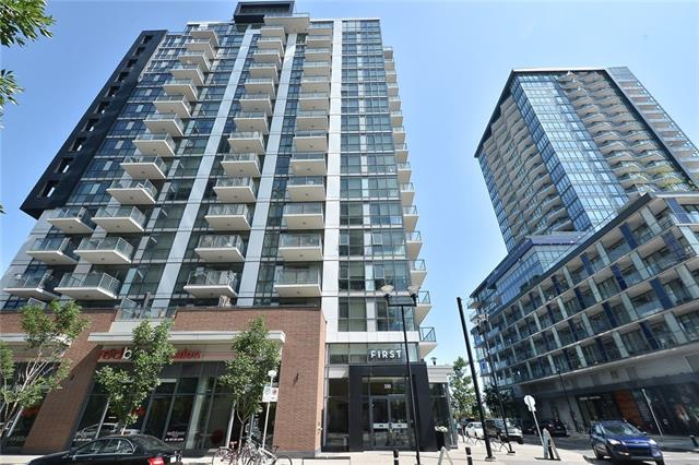 EXCELLENT location and price in the heart of Downtown East Village! Only a few steps to RIVER Pathways, restaurants , coffee shops and more. Tremendous VALUE for this SLEEK and MODERN 1 bedroom condo. The BRIGHT and OPEN concept offers plenty of natural light. The kitchen comes complete with STAINLESS STEEL appliances, QUARTZ counter tops. There is a patio door off the living room that leads to your spacious BALCONY with DOWNTOWN views. The master bedroom has a cheater door to the bathroom. There is also INSUITE Laundry. A STORAGE locker and bike storage. Amenities include a ROOF TOP PATIO with stunning VIEWS and entertaining/party room. There is also an exercise room and yoga room in the building. On top of that there are guest suites available for out of town visitors. There is also concierge and security. Don't miss out on this FANTASTIC condo!