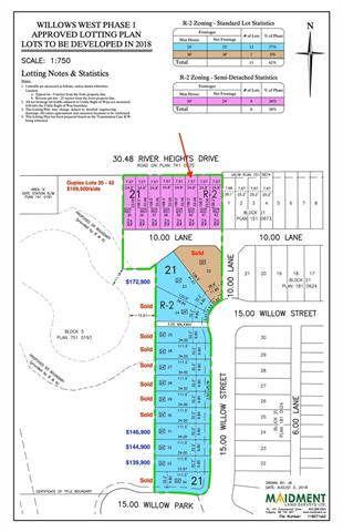 This is your opportunity to buy land directly from the developer in one of Cochrane fastest growing communities. Great access to commuter routes to Calgary and the Mountains. Incredible value, lowest lot price around. Other lots available for either duplex or single family. Note: 1/2 duplex lot needs to be purchased with lot #40 or choose one of our builders to build or home.