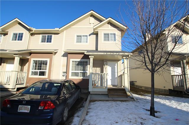 Price reduction by $20,000 !! End Unit Town Home locate across from Saddleridge Town Centre and LRT Station. Features Main floor living room with fireplace Nice and open large kitchen and eating area, upper level 2 Large bedroom with lot of windows, basement is fully finished with one more bedroom, laundry room and storage area, walking distance to Genesis Centre and Public Transportation,  close to schools and  shopping