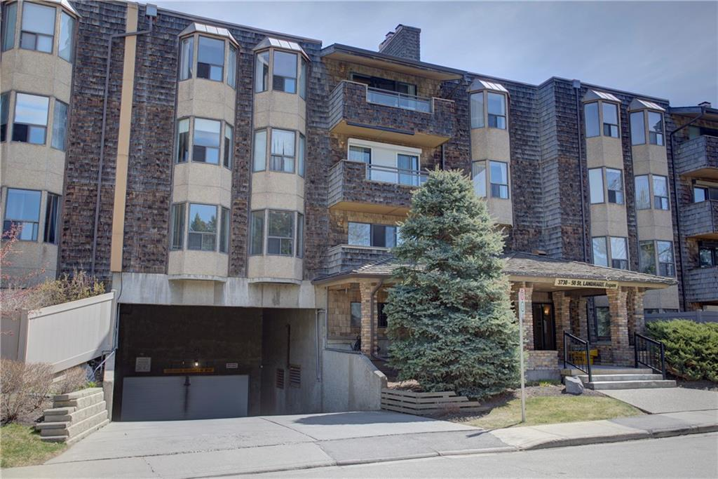 VACANT AND IMMEDIATE POSSESSION IN THIS QUIET AND OVER 25 RESTRICTED BUILDING! Main floor means safe access to your condo without the elevator! PERFECT RETREAT AND ISOLATION SPOT ON YOUR LARGE PATO DECK WITH OVER SIZED FENCE AND GARDEN TO TEND. Your private gate allows you to walk out into EDWORTHY PARK or over to MARKET MALL. This large one bedroom condo has a nice wood burning fireplace as the focal point of your living room looking out to the patio area. The master bedroom is quite large and can accomadate lots of furniture. The 4 piece bathroom has been upgraded and shows very well. The kitchen has new flooring. Perfect condo for one person or a couple. The large dining room beside the kitchen is ample and allows for dinner parties or family get togethers. The entire main floor was redone in a high quality German laminate flooring. Warm underground parking and storage is provided. Each floor has its own free laundry area with commercial machines.
