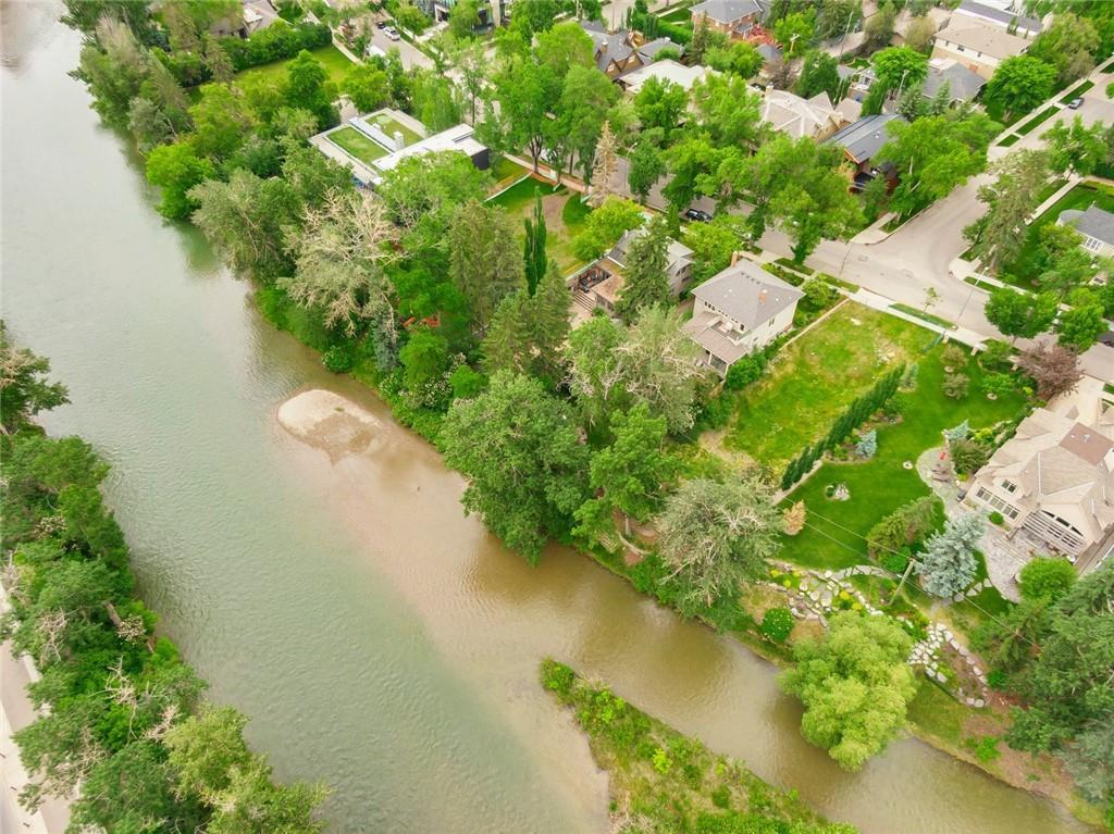 Fabulous time to build your dream home.  Outstanding location + beautiful lot backing the Elbow River.  This flat  lot is 50 feet wide + 160 feet deep + is ideally located with walk-ability to 4 street, Rideau Park School, Western Canadian High School, the Glencoe Club, local tennis courts, river pathways + downtown.