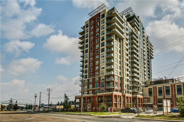 Welcome to the London at Heritage Station. This bright 1 bedroom + den 5th floor unit boasts a sunny South exposure and a fantastic layout. The unit has 9ft ceilings, large windows, a functional kitchen with granite counter tops & breakfast bar, spacious living room and insuite laundry with storage. There is an underground heated parking stall. Just steps to the LRT Station, bus routes and with direct access to the Save on Foods, Tim Hortons and other shops from the 4th floor.