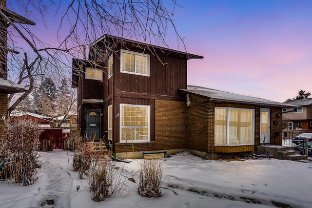 Hello Calgary! Welcome to this amazing fully finished FAMILY home, situated in a private CUL-DE-SAC! Upon entering you are greeted with a LARGE BRIGHT living room, laminate flooring throughout, SPACIOUS and functional kitchen with an abundance of cabinets, main floor laundry and 1/2 bath complete the main level. The open railing carries you upstairs where you are greeted with 3 SPACIOUS bedrooms and a 4pc bath. As you enter the basement you are greeted with a LARGE rec room, 2pc bath and LARGE DEN! The backyard is SPACIOUS with a deck and is FULLY FENCED! Parking in the back is great for 2 vehicles! Walking distance to schools, parks, shopping and public transit! NO CONDO FEES! MAKE THIS YOUR FAMILY HOME TODAY!
