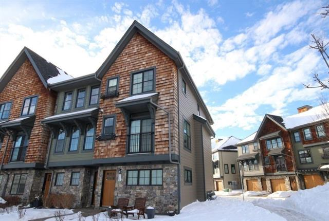 Located in the Enclave of Castle Keep in sought after Aspen Woods.This end unit provides many additional side windows so the entire property is light and open. Immaculately maintained. The SW facing patio with gas BBQ line is just off the dining room which is open to the kitchen and family room.The front windows all look out to the tree grove and green space. Hardwood floors run the length of the main level.Upstairs are 3 bedrooms including a master bedroom with walk in closet and 3 piece bath with extra large standing shower.The laundry is conveniently located on the upper level, home has a 2 car tandem garage. Walking distance to Webber Academy and very close to Aspen Landing and the LRT.