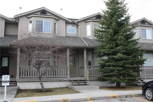 Great location with this one owner condo.  Sunny open floor plan offers large living room with bayed window, good sized kitchen with breakfast bar and cozy eating nook with access to your south facing deck backing onto a green space and playground area - great for watching the kids play!  Upstairs you will find a huge master bedroom with another bayed window, full bathroom and two other bedrooms.  The basement is undeveloped awaiting your ideas.  Great complex located close to schools and shopping.  Two parking stalls right out front and lots of visitor parking available.
