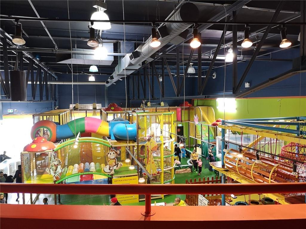 * Huge price deduction! * Excellent location, right across from Chinook Shopping Mall. This huge indoor playground is perfect for younger children for birthday and other private events. It has all the accessories that kids can play all day. It also has several private party rooms, and a kitchen, a snack bar, and popcorn machine generating good profits. The arcade machines also make big money for the owner. Because of the size and zoning, it is possible for new owner to apply for uses as a day care or before and after school as a bonus for extra profits. Rent already includes op costs. Opens 7 days a week, easy to operate. Don't miss out this excellent investment opportunity!