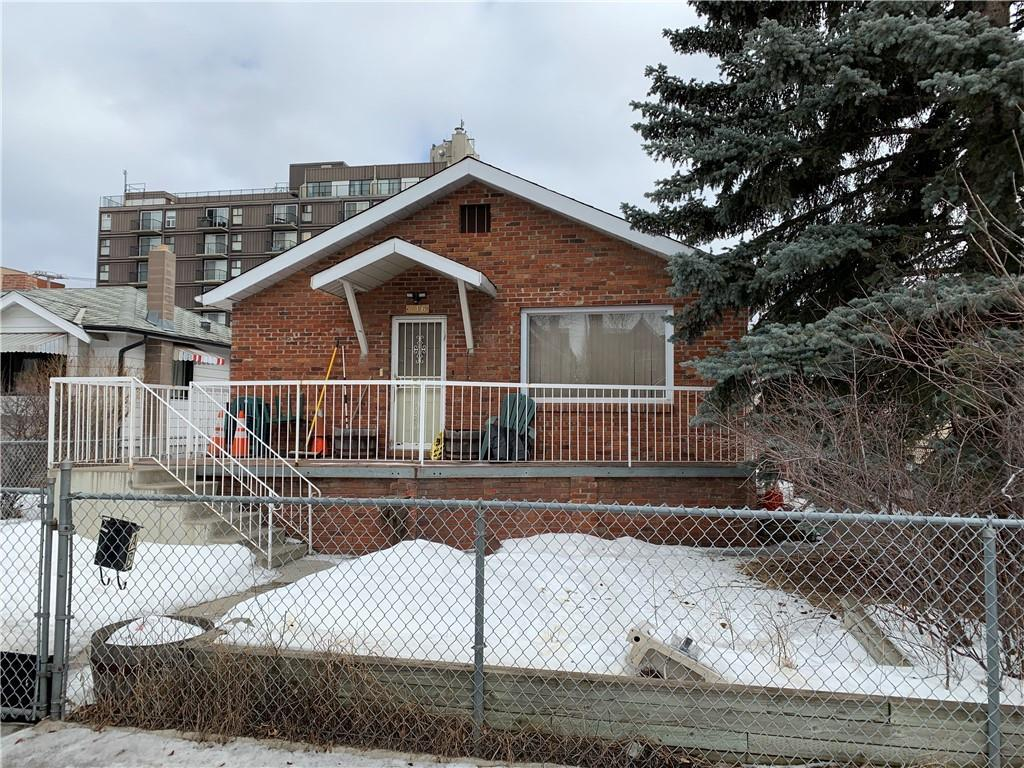 Well located older home in Hillhurst with RC-2 zoning. This area and property are ideal for re-development. Home is an older two bedroom bungalow with 1 bedroom illegal basement suite, ideal for rental while undergoing design and awaiting City approvals.