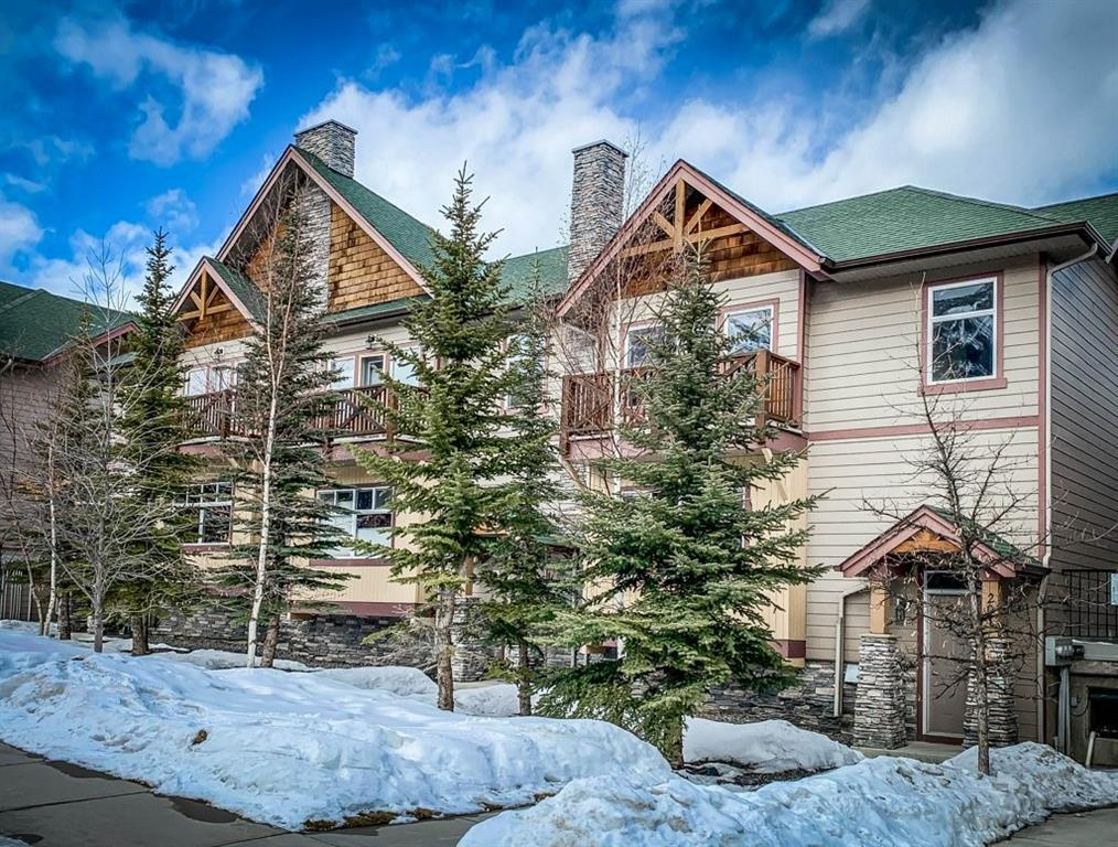 This quiet south facing fully furnished townhome has a large bright open living space; two bedrooms plus a convenient and comfy murphy bed, two and a half baths and a double car garage... YES a double car garage. The main level features an open plan with a large living room with corner fireplace and built in window bench to enjoy the views of the Three Sisters. The open living space is great for entertaining and features a living room that flows into the spacious dining room and upgraded kitchen. Steps from the kitchen and dining is access to the large patio which is a great place to relax after a day at play in the mountains. Upstairs is the master bedroom with ensuite, walk in closet and south facing deck. The large second bedroom and full bath complete this level. Just a few steps away from the Bistro Market and wine shop and numerous walking and biking trails.
