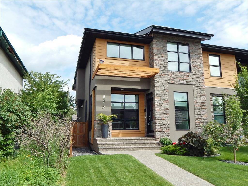 Stunning BROOKFIELD Built Home in West Hillhurst! Easy access to Crowchild, Kensington, parks, & downtown! Excellent condition in and out! Gorgeous hardwood & 9? knockdown ceiling on main level w/ TILE in baths & entry. A GENEROUS great rm w/ big S-facing windows & gas F/P w/ built-ins. Step up to an EXQUISITE kitchen w/ full height white cabinets w/ CROWN & lower lights, QUALITY Bosch stainless appl?ces incl gas stove & built-in oven, & LARGE island w/ extended bar. Quartz counters throughout. Spacious dining area! Separate back entry w/ cubbies & 2-pce bath. Curved staircases to a bonus rm w/ vaulted ceiling & skylight. Large master has a walk-in closet & 5-pce ensuite w/ in-floor heat, soaker tub, dual sinks, & 10 mm glass shower w/ rain showerhead. Two large kids? rms, a 4-pce bath, & upper laundry! Finished bsmt w/ 9? ceiling in huge rec rm plus a 4th bedrm, & 4-pce bath. AIR COND?G; Water softener; Central Vac! Exposed aggregate path/steps, quality deck w/ glass railing, & double detached garage.