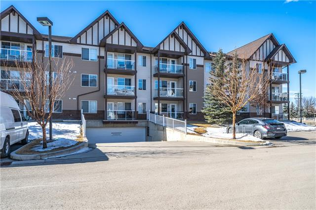 * CLICK THE LINK TO TOUR THIS HOME IN 3D* Immaculate, beautifully presented 2nd floor unit in the popular +55 complex of Calvanna, located just a short walk to shopping. This 2 bedroom 1 bathroom unit features a large master bedroom with walk in closet, good size 2nd bedroom and a 4 piece bathroom. The kitchen has maple stained cabinets, white appliances and has plenty of room for a dining table or island if you so wish. The living room is bright and airy and has a door leading onto the East facing balcony - perfect for your morning coffee! There is a laundry room with stacked washer/dryer, additional cabinets and counter space. In the heated parkade you have one stall & extra storage space in the locker. This is a great complex with lots of social activities taking place if you wish to join in. Its a short walk to shopping, the indoor walking track, arena, seniors centre and the sheep river pathways. Lots of visitor parking too! View 3D/Multi Media/Virtual Tour!