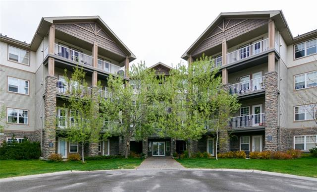 Welcome to this fabulous 1 bedroom plus den, 1.5 bath corner unit. Located on the 3rd floor, facing west, this large space will not disappoint. Upon entering you will be impressed by the bright and open plan which is perfect for entertaining. Features include granite counter tops, tile back splash, ledgestone gas fireplace and cork flooring. This unit has everything you're looking for: a master bedroom complete with a walk-in closet and full ensuite bath, a den/office area, a powder room for your guests, in-suite laundry, titled underground parking and a huge storage locker. A short walk to parks, the Bow River pathways, restaurants and shops. Your inner-city lifestyle awaits! Call for your showing today.