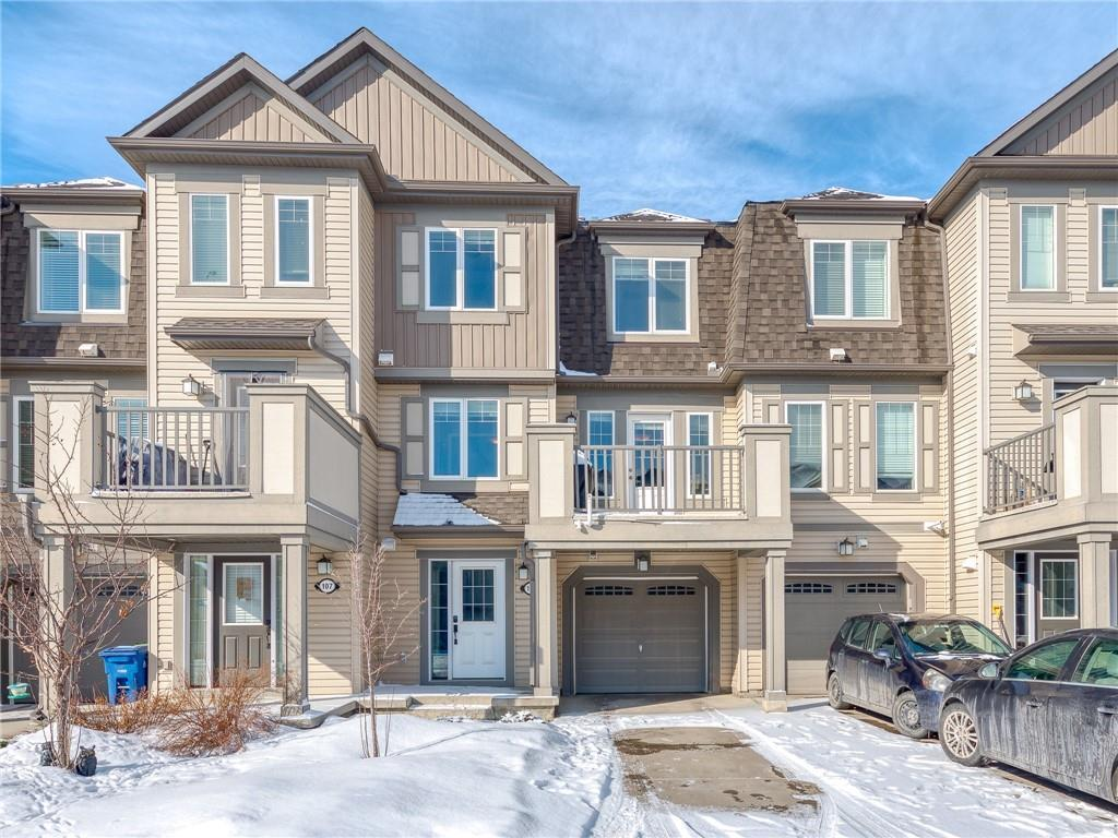 Here is a perfect attached home with NO condo fees.   When you walk in the front door you have access to the garage and a large landing.   ON the main level the floor plan is bright and open from the kitchen to the family room.   The colors are neutral with engineered hardwood.    There is plenty of room for larger furniture pieces and an eating area off the kitchen.   The upper level has two larger bedrooms with a 4 pc. bath.  These attached properties are perfect for single professionals, single parents, and/or small families.  The community is very friendly with excellent access to all amenities.