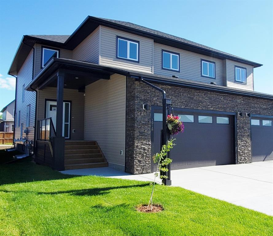 This sparkling new 2087 sq.ft. 2-story home in the attractive Highwood Village community could be yours as soon as you are ready to move! You will feel piece of mind with the 1,5,10 year Warranty that a new home offers! As you walk from the covered front porch into the large foyer you are greeted by the den, then into the open floor plan with 9 ft. ceilings and Luxury Vinyl plank flooring. Coming from the garage, you will find a half bath, a large entry closet, and a walk-through pantry. The kitchen has a large eat up island, gas line to stove, quartz counter tops, pot drawers, and soft closing cabinets. Upstairs, the master suit boasts a large walk-in closet with custom built-in and the 4 pc ensuite has stand alone shower, double vanities and a makeup area. There are 2 more spacious bedrooms, a 4 pc bathroom, bonus room and laundry with cabinets and sink, with 9 ft. ceilings on the upper level as well. Alley access and front landscaping. This home has too many upgrades to list, please call to view!