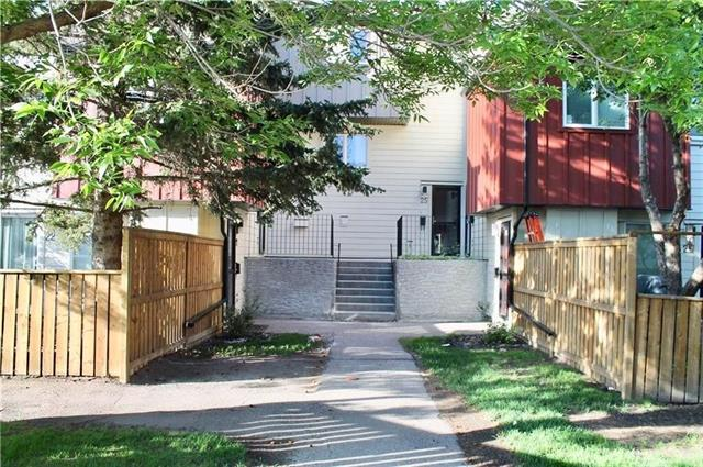 Completed renovated town home! Brand new stainless appliances. New floor, kitchen and bathroom. Newly painted interior walls and ceilings. Less than 5 minutes walking to Dalhousie cTrain station. Close to the Winston Churchill high school, university, and shopping. Recently upgraded fence, siding, windows and roof. Don't need to worry about special assessment. Great floor plan with three bedrooms upstairs, nice kitchen, lots of storage and in suite laundry. Patio doors off the living area and kitchen. Fantastic private yard with deck, grass area and more outdoor storage, assigned parking outside the door with a bonus of two extra stalls if needed to rent monthly for a low fee. Water and sewer are included in condo fee. This unit won't last long on the market.