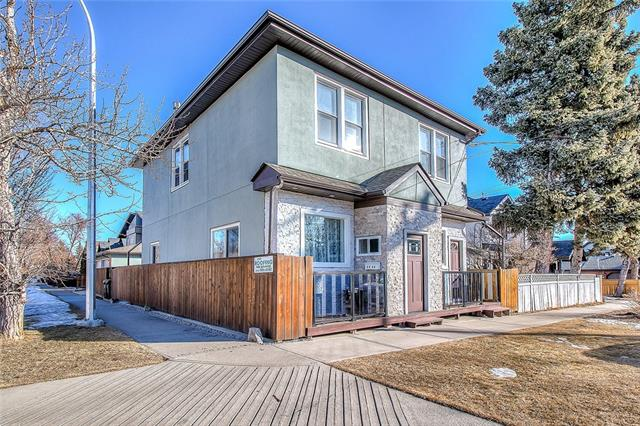 Calling all smart people over here! This is an amazing opportunity to become the owner of one of THE MOST UNIQUE properties in Calgary! There are at least 6 GREAT REASONS why you should buy this house: 1) Complete Renovations inside and out - there is almost nothing that didn't get redone in this house...roof, windows, flooring, kitchens and bathrooms, stucco, garage, deck, fencing, insulation....ALL REDONE!!! This is literally a TURN KEY/NOTHING TO DO PROPERTY! 2) Unique layout - with a separate 2 bedroom suite(illegal) upstairs...with its own separate entrance, kitchen, laundry, 2 bedrooms and a huge living room! Self contained MAIN FLOOR UNIT with its own 2 entrances, high end kitchen, 10' ceilings, 2 bedrooms, large living room and laundry. Basement suite(illegal) is finished with a kitchen, dining and living room and a den. It has its own separate entrance too. 3) Oversized 25'X25' garage with extra high doors and ceiling. 4) Corner lot. 5) Quiet street. 6) Amazing location. MUST BE SEEN!