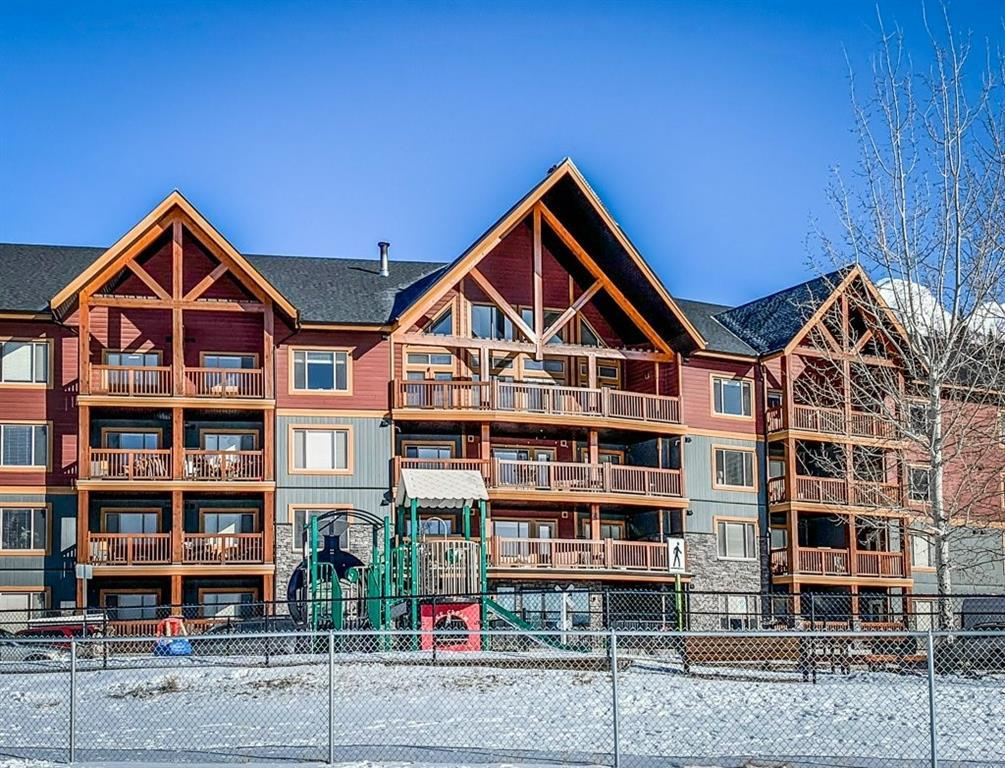 Imagine living the mountain lifestyle of Canmore while being in control of your own finances, no rent or vacation rental fees to pay. This unit is a perfect way to get into the market as a 1st time homebuyer or someone who wants their own place as a second home. Bright south facing views of the Three Sisters from the front room and the covered deck leave a lasting impression. With a fully appointed kitchen including stainless steel appliance package and granite counter tops, eating bar, in suite laundry and a fireplace, the unit is modern yet cosy. Extra's include an exercise room, playground, dog run and amenities room. This unit comes with a storage unit in the parkade and 1 surface parking spot. The building is pet friendly and just a few minutes walk onto the Montane trail system. Public local and regional transportation stops within 500m.