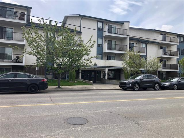 Low interest rates, bargain sale prices, what a time to invest in the Calgary inner city market. Priced more than $35,000 under what this unit last sold for, this is a must view. Park the car in the heated parkade & walk to work, restaurants, pubs, fun shops & yoga. This south facing unit has a large private patio & large windows that allows the sunshine to pour in. Located partially below grade you will never have to haul your groceries up the stairs. As you enter you will notice the newer laminate flooring, light fixtures & paint. The galley kitchen has plenty of counter & cabinet space. There is a large open concept dining room & living room. This area is the perfect place to entertain. If you work from home or just need more space you will appreciate the extra room for your office or reading nook. There are two spacious bedrooms & a 4 piece bathroom. This unit is located on the back side of the complex (South) & is very quiet. Who would ever think this kind of value would be possible in Bridegland?