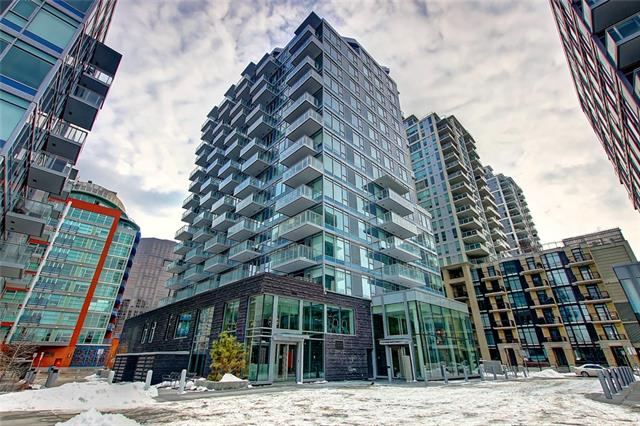 Best value in available at Waterfront at Parkside.  Live on the Bow in this brand new one bedroom styled studio condo with the best of finishings and access to an abundance of amazing amenities.  Great for the first time buyer or for a pied a terre for a part time home downtown.  Great investment opportunity.  Heres your chance to own at Waterfront for the best price.  Unit includes one underground parking stall and storage locker. Show home furniture is not included with the condo